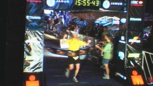 Bill Crosses The Finish Line!