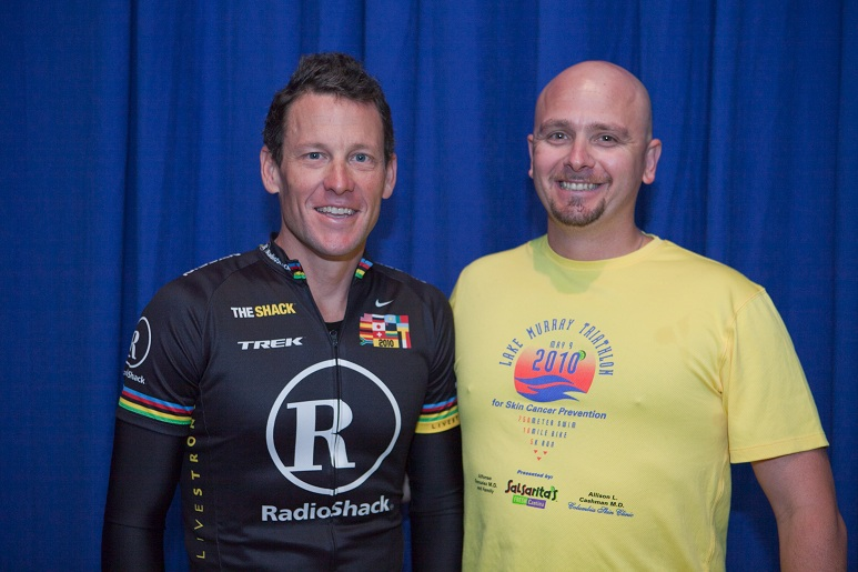 Lance Armstrong and Bill Peer