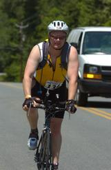 Bill riding during the Rock n Roll Half Iron Man