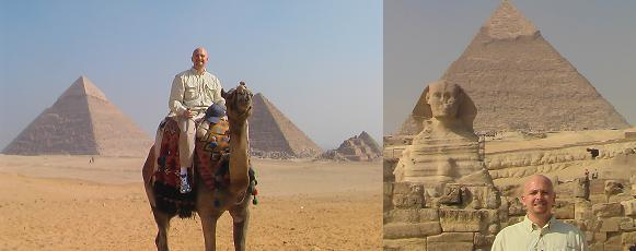 Photo of the Pyramids and Sphinx in Egypt