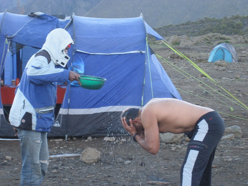 The usual camping shower