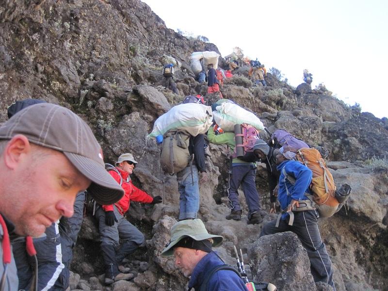 Always let Porters pass on Kilimanjaro