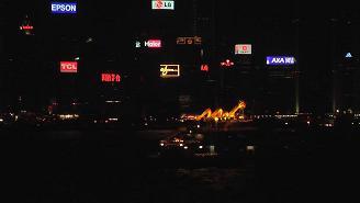 Looking at the profile of Hong Kong at Night