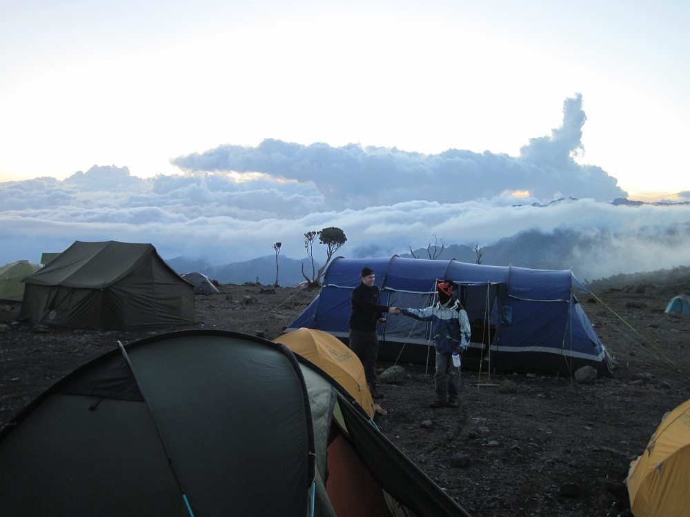 Camping above the clouds is awesome!!!Kilimanjaro in Tanzania, Africa.