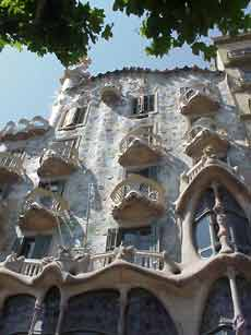 Barcelona Spain and the Gaudi designed house