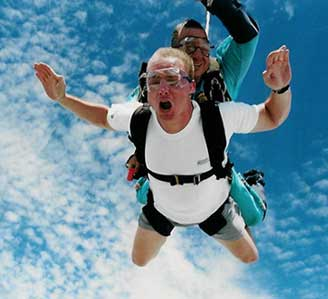 Bill Skydiving at 10,000 feet