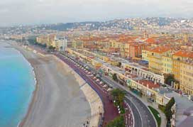 Nice France City Coast Promenade Des Anglais View