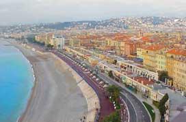 Nice France City Coast Promenade Des Anglais View