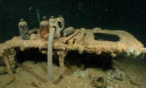 Truk Chuuk - Operating Table with bones